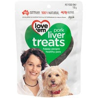 Love Em Pork Liver Dog Treats - 100g