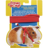 Living World Guinea Pig Harness and Lead Set Red - Each