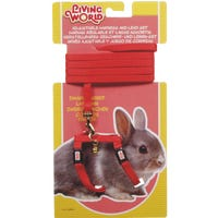 Living World Dwarf Rabbit Harness and Lead Red - Each