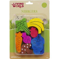Living World Large Fruit & Vegie Mix Small Animal Chew Toys - 7pk
