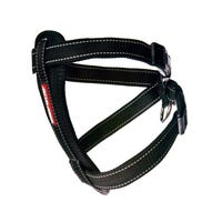 EzyDog Chest Plate Harness Black Dog Harness - XLarge