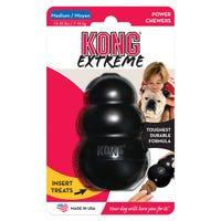 KONG Extreme Black Rubber Dog Toy - Medium
