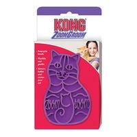 KONG Cat Zoom Groom Rubber Grooming Brush - Purple
