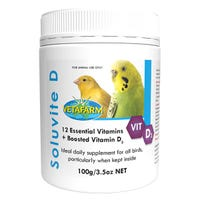 Vetafarm Soluvite D Essential Vitamins Bird Supplement - 100g