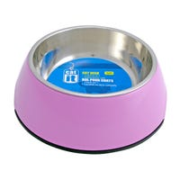 Catit Stainless Steel Insert 2 in 1 Pink Cat Bowl - XSmall