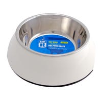 Catit Stainless Steel Insert 2 in 1 White Cat Bowl - XSmall