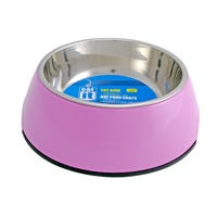 Catit Stainless Steel Insert 2 in 1 Pink Cat Bowl - Small