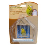 Living World Cement Swing with Wire Frame Bird Toy - 10cm