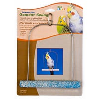 Living World Cement Swing with Wire Frame Bird Toy - 17.5cm
