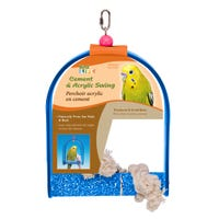 Living World Cement Swing with Acrylic Frame Bird Toy - Small