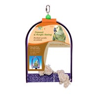 Living World Cement Swing with Acrylic Frame Bird Toy - Large