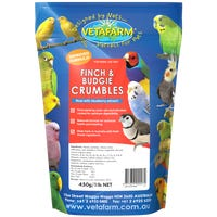 Vetafarm Finch and Budgie Crumbles Bird Food - 450g