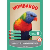 Wombaroo Lorikeet Wet Mix Bird Food - 1.5kg