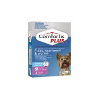 Comfortis Plus Flea And Worming Chews Extra Small 2.3-4.5kg - 6pk