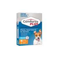 Comfortis Plus Flea And Worming Chews Small 4.6-9kg - 6pk