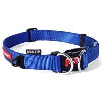 EzyDog Collar Double Up Blue Dog Collar - Large