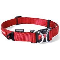 EzyDog Collar Double Up Red Dog Collar - Large