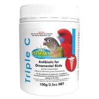 Vetafarm Triple C Antibiotic For Ornamental Birds - 100g