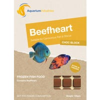 Aquarium Industries Frozen Beefheart (Choc Block) Fish Food - 100g