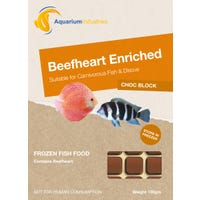 Aquarium Industries Frozen Beefheart Enriched Fish Food - 100g