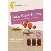 Aquarium Industries Frozen Baby Brine Shrimp Fish Food - 100g