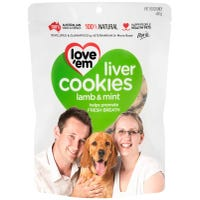 Love Em Liver Cookies Lamb and Mint Mini Cookies Dog Treats - 450g