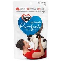 Love Em Purrfect Cat Beef Liver Cat Treats - 90g