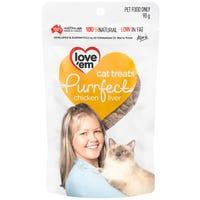 Love Em Purrfect Cat Chicken Liver Cat Treats - 90g