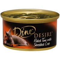 Dine Desire Flaked Tuna & Shredded Crab Wet Cat Food - 85g