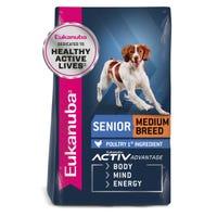 Eukanuba Mature Medium Breed Dry Dog Food - 15kg