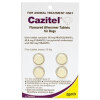 Cazitel Allwormer Tablets for Dogs 10kg - 4 Pack