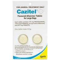 Cazitel Allwormer Tablets for Dogs 35kg - 2 Pack