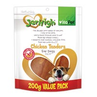 VitaPet JerHigh Chicken Tenders Dog Treats - 200g