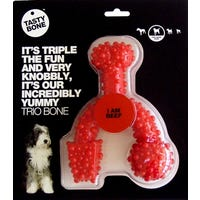Tasty Bone Nylon Trio Beef Flavoured Dog Toy - Large