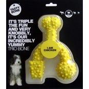 Tasty Bone Nylon Trio Chicken Flavoured Dog Toy - Small
