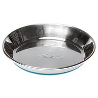 Rogz Anchovy Stainless Steel Cat Bowl with Blue Non Slip Base - Small