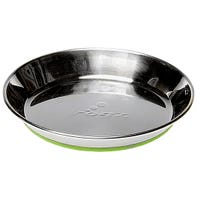 Rogz Anchovy Stainless Steel Cat Bowl with Lime Non Slip Base - Small