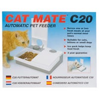 Cat Mate C20 Auto 2 Feeder Two Portions Timed Cat Feeder - Each