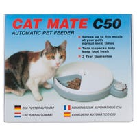 Cat Mate C50 Auto 5 Feeder Five Portions Timed Cat Feeder - Each