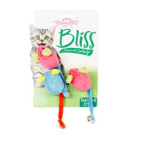 Trouble & Trix Bliss Mice Bell Cat Toy - 3pk