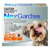 Nexgard Dog Flea And Tick Chews 2-4kg - 6pk