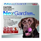 Nexgard Dog Flea And Tick Chews 25-50kg - 6pk