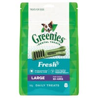 Greenies Fresh Mint Large Dental Dog Treats - 8pk