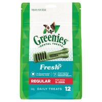 Greenies Fresh Mint Regular Dental Dog Treats - 12pk
