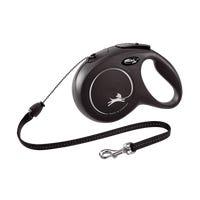 Flexi Classic Cord Medium Black Retractable Dog Lead - 5m