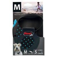 Flexi Cord Blue Dots Retractable Dog Lead Medium - 5m