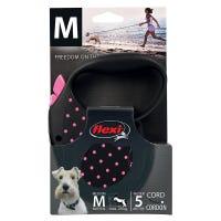 Flexi Cord Pink Dots Retractable Dog Lead Medium - 5m