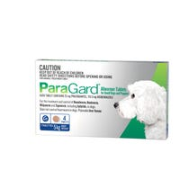 Paragard Wormer Tablets Small Dog 5kg - 4pk