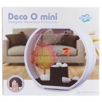 Blue Planet Deco-O Aquarium White Fish Tank - 10L