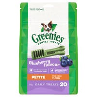 Greenies Blueberry Flavour Petite Dental Dog Treats - 20pk